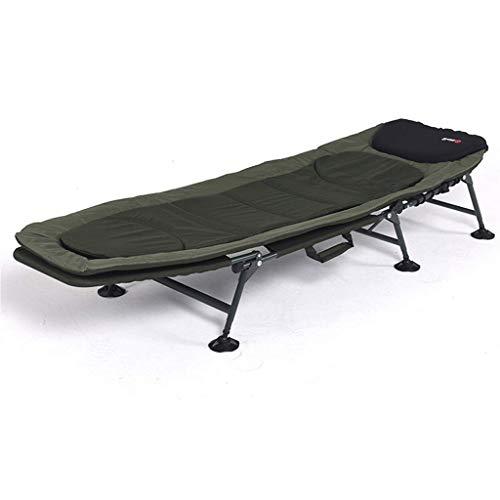 QQXX Opklapbare ligstoel logeerbed verstelbare rugleuning ligstoel, vissen camping ligstoel gewichtloosheid ligstoel, kussen, voor kantoor of in de open lucht veranda