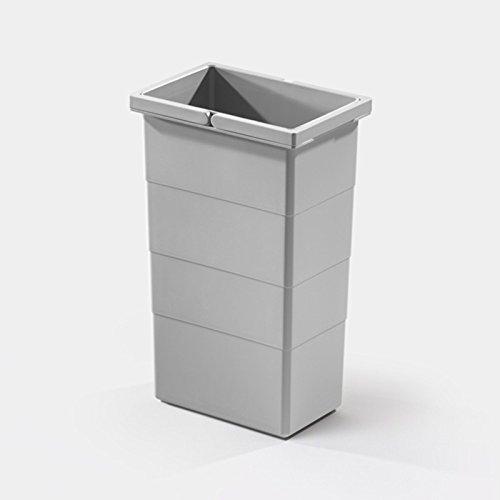 Hailo Ersatzeimer, 10 Liter, hellgrau, zu Tandem Comfort, Rondo Comfort und Cargo Soft