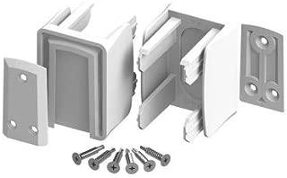 (2 Pack) Veranda Vinyl Fence Slide Lock Bracket Kit White
