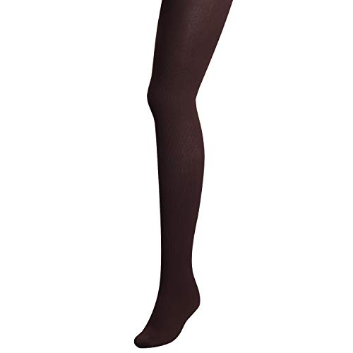 TOPTETN Women's Thermal Opaque Soft Warm Fleece Tights (donkerbruin)