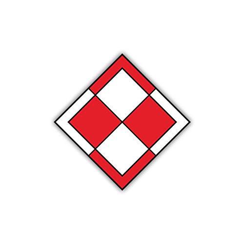 Aufkleber/Sticker Polnische Luftwaffe Wappen Abzeichen Polska Polski 7x7cm A1210