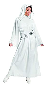 Rubie s Women s Star Wars Classic Deluxe Princess Leia Adult Sized Costumes White Small US