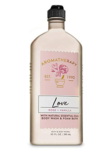 Bath and Body Works Aromatherapy LOVE - ROSE + VANILLA Body Wash and Foam Bath 10 Fluid Ounce