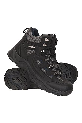 Mountain Warehouse Adventurer Mens Boots - Waterproof Rain Boots, Synthetic & Textile Walking Shoes,...