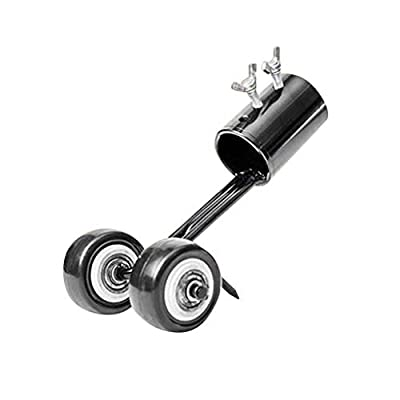 Lykmera Manual Weeds Rolling Puller Weeders Tool for Pavers Driveways Sidewalk, Side-Walk Weeding Tool, L-Shape Blade with Wheels, Gardening Hand Tool Attachment, Weed Roller Cutter