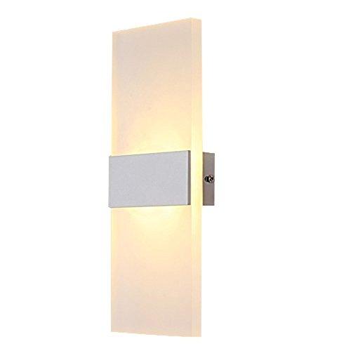 Lampop Wandleuchte LED Innen Modern Weiss Wandlampe Treppenhaus Up and Down Innenleuchten Flurlampe für Wohnzimmer Korridor Schlafzimmer, Warmweiß
