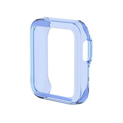 XXY Funda De Cubierta Protectora Suave De TPU para MI Watch Lite Watch Fit Fit Case Pantalla Completa Protector Shell Shell Chapado En Parachoques para MI Watch (Color : Blue)