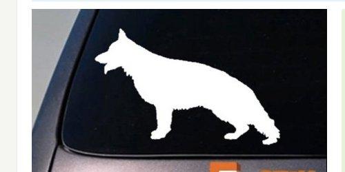 EZ-STIK German Shepherd Decal Sticker Vinyl K9 Dog Window Laptop Police Malinois 6' A065