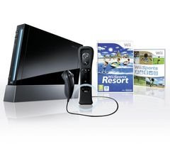 NINTENDO Console Wii Noire + 1 Nunchuk + 1 Wiimote + Wii Motion Plus + Wii Sp...
