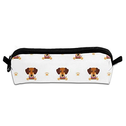 Stiftebox,Cartoon Character Brown Dachshund Dog,Pen Case Makeup Storage Bag,Office College School Students Schreibwaren