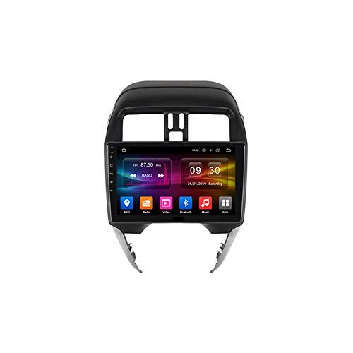 TypeBuilt Autoradio 9 Zoll HD Bildschirm Radio GPS Navigation Auto DVD Player Für Nissan Sunny 2014-2016 Android Auto Unterstützen DAB Lenkradsteuerung Mirrorlink Carplay,B,PX5