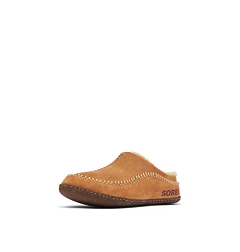 Sorel Men's Open-Back Slippers, Camel Brown/Curry, 40