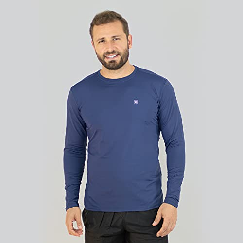 Uvline Camiseta Uvpro Manga Longa, G, Marinho