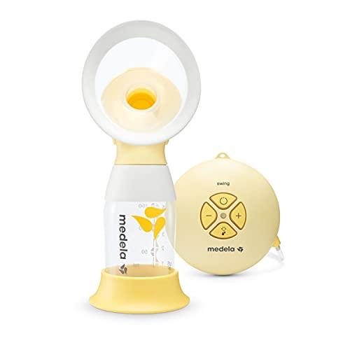 Medela Extractor de leche eléctrico individual Swing Flex - Diseño compacto, con embudos PersonalFit Flex y tecnología de extracción de 2 fases de Medela