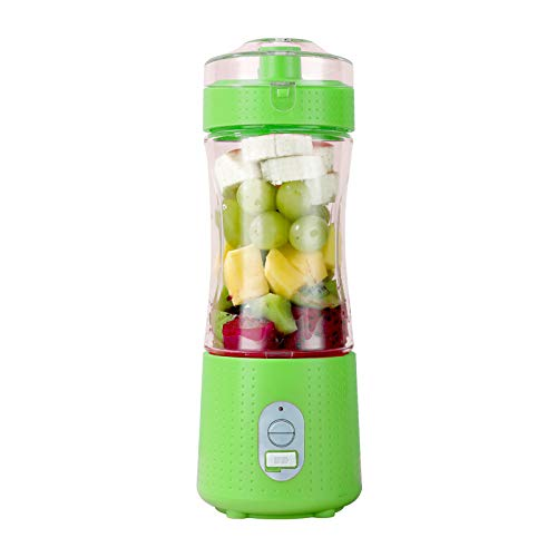 Kamenda Portable Blender, Personal Size Blender Smoothies and Shakes USB Rechargeable Juicer Cup with 6 Powerful Blades-Green