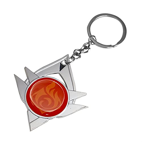 TIANLING Keyring Game Metal Jewelry Keychains Key Chain Element Weapons Eye of God Accessories Toys Gifts