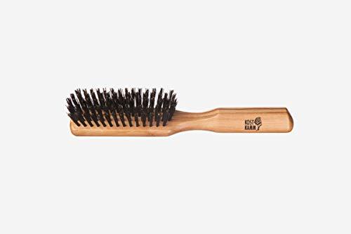 Brosse à cheveux fine en bois d'olivier 5 rangées