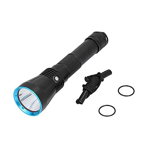 Linterna de buceo táctica LED SST70 Antorcha de luz fuerte profesional impermeable, SST70 8000LM Herramienta de iluminación de antorcha de pesca Accesorios de camping, para buceo, caza, submarino
