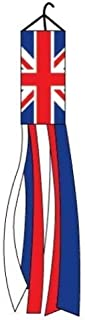 Moon Knives United Kingdom Windsock British 60 Inch Outdoor Garden Wind Sock UK Decoration - Party Decorations Supplies For Parades - Prime Outside, Garden, Men Cave Decor Flag