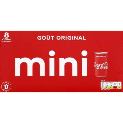 Coca Cola Coca-cola boite 15clx8 slim mini frigo pack - Les 8 mini canettes de 15cl