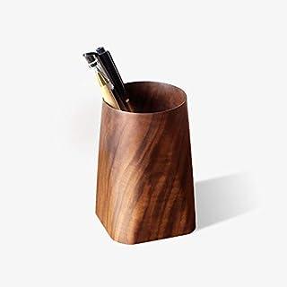 Pen Holder - Solid Wood Pen Holder, Stationery Pen Inserted Tea Ceremony Accessories Makeup Pen Holder