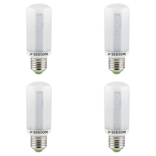 SEBSON LED Lampe E27 warmweiß 8W, ersetzt 60W Glühlampe, 810 Lumen, E27 LED SMD, LED Leuchtmittel 160°, 4er Pack