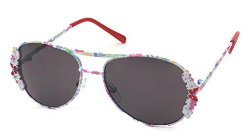 Kiddus Kiddus Sonnenbrille für Mädchen, Jungen, Kinder, Jugendliche. UV400 100% Schutz gegen ultraviolette Sonnenstrahlen. Ab 6 Jahren. Mit Stil. Modisch. FABULOUS