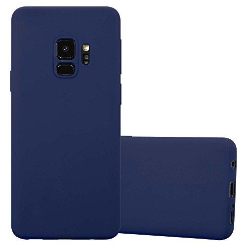 Cadorabo Funda para Samsung Galaxy S9 en Candy Azul Oscuro - Cubierta Proteccíon de Silicona TPU Delgada e Flexible con Antichoque - Gel Case Cover Carcasa Ligera