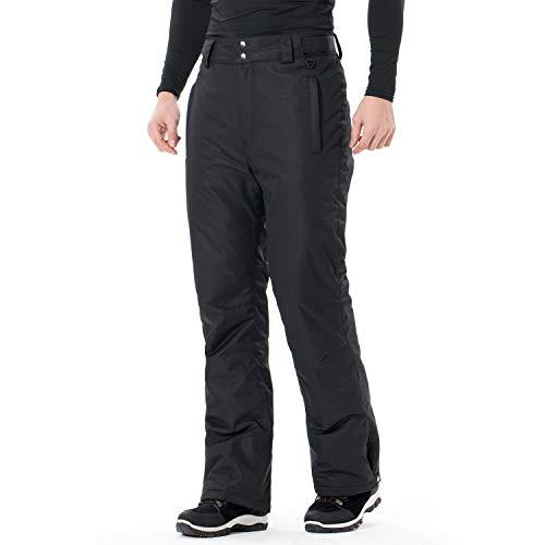 Sportneer Mens Snow Pants Insulated Ski Pants Snowboarding Pants Black L