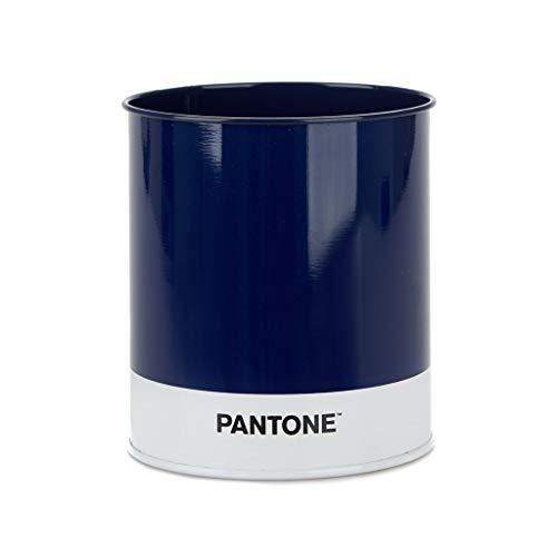 Balvi Portalápices Pantone Color Azul Organizador Escritorio Ten Tus Bolis, lápices y Plumas ordenados y a Mano en tu Mesa de Trabajo Lata 10x8,6x8,6 cm