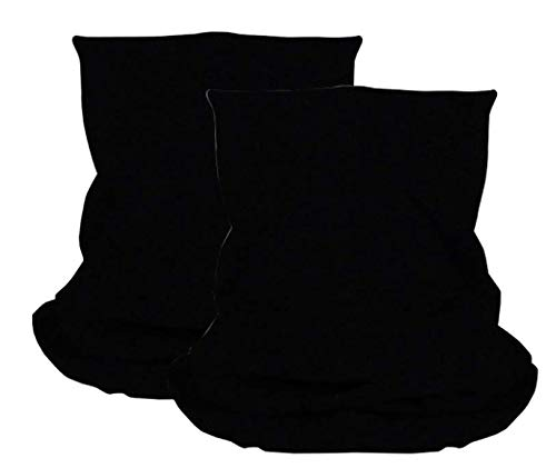 dreamhouse Multifunktionstuch Schlauchschal Bandana Maske mit Motiv   Halstuch Gesichtsmaske   Sturmmaske, Mehrzweckschal   Damen & Herren Varianten (Schwarz (2 STK))