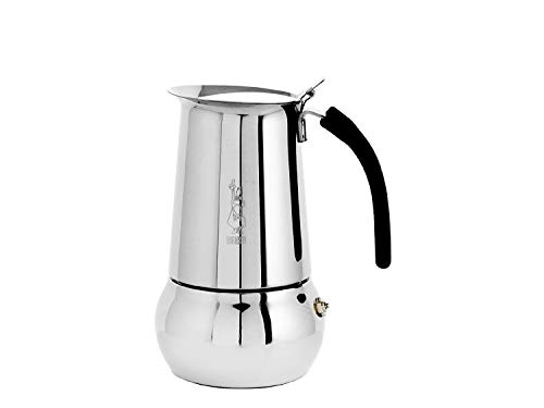 Bialetti Kitty Espresso Coffee Maker, Stainless Steel, 6 cup