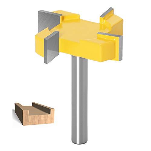 8mm vástago broca para fresadora de superficie, CNC Spoilboard Superficie Enrutador Brocas para fresado de madera herramienta de carpintería