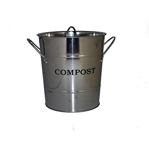 For Sale! Exaco Trading Company CPBS 03 Small 2 in 1 Kitchen Compost Bucket, Stainless Steel