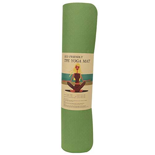 Yoga Kussen, 183x61x0.6cm TPE Home Kinderen Dansmat Meisje Beginner Yoga Pad Antislip Fitness Oefenkussen(Groen)
