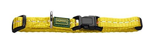 HUNTER TRIPOLI VARIO BASIC Hundehalsung, Hundehalsband, Nylon, reflektierend, Klickverschluss, XS-S, gelb