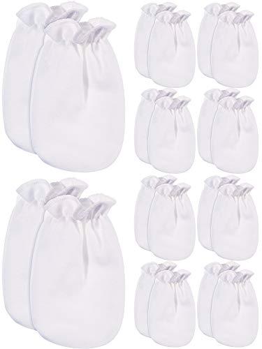 10 Paar Baby Handschuhe Neugeborenen Baumwoll Handschuhe Kein Kratzer Fäustlinge Unisex Baby Handschuhe für 0-6 Monate Baby Gefälligkeiten