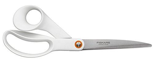 Fiskars Tijeras universales, Longitud total: 24 cm, Acero de calidad/Plástico, Functional Form, Blanco, 1020414