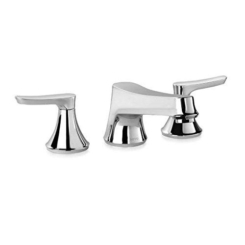 Toto TL230DD#CP Wyeth Chrome Widespread Bathroom Faucet with Pop Up Drain