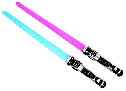 ARUNDEL SERVICES EU 2 Paquetes Sable de luz Lightsaber Espada Ligera Rojo Azul Espada de Juego Espacial Espada de Juguete
