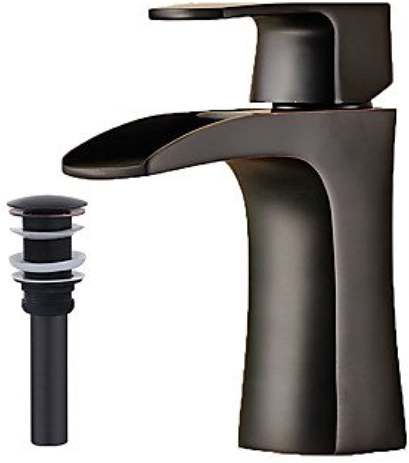 Country Modern Centerset Pre Rinse Widespread withCeramic Valve Single Handle One Hole forNickel Brushed , Bathroom Sink Faucet