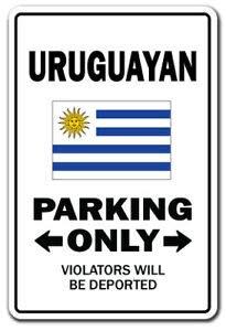 Inga Uruguay - Adhesivo uruguayo para aparcamiento (20,3 x 30,4 cm)