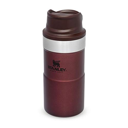 Stanley Trigger Action Travel Mug 025L  85OZ Wine – Leakproof - Tumbler for Coffee Tea and Water - BPA FREE - Stainless-Steel Travel Cup fits under most coffee makers - Dishwasher Safe