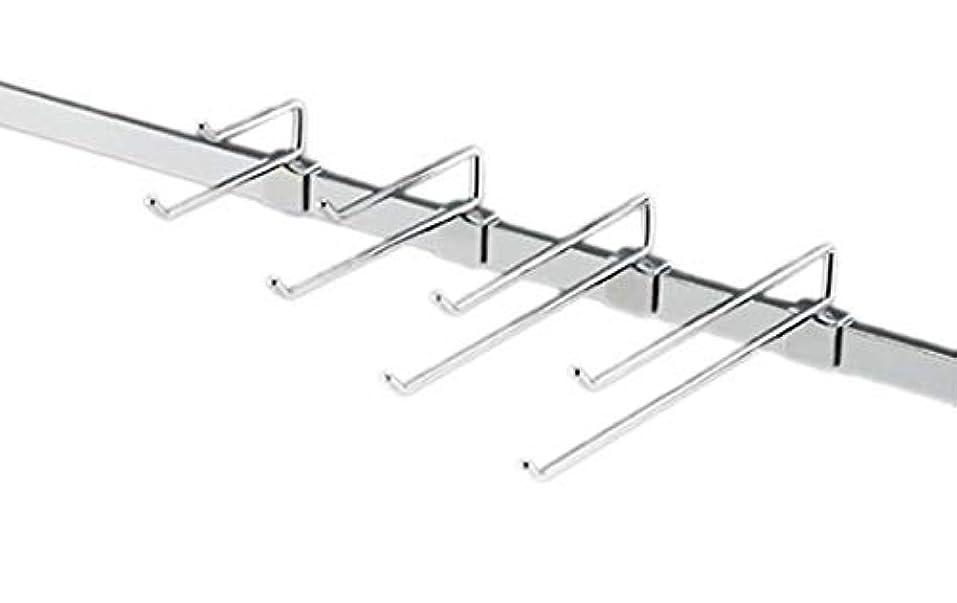 クリップ評論家干渉するアズワン 2段フックハンガー(φ6mm) L10cm 50本/61-7182-55