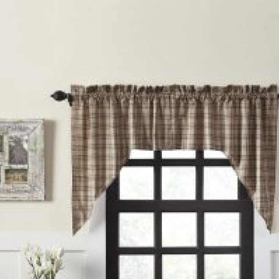 OKSLO August Grove Surikova Lined Swag Kitchen Curtain (Set of 2)