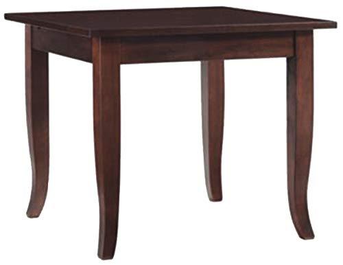 SF SAVINO FILIPPO Tavolo tavolino Fisso Quadrato in Legno Noce Marrone 70x70 cm per Ristorante casa Cucina Salotto da Pranzo 4 Persone