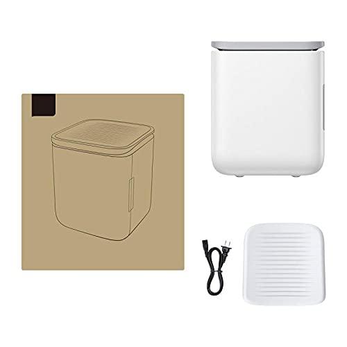 Mini Fridge 6Litre Cooler & Warmer, Portable Small Fridge AC/DC Mini Refrigerator for Car and Home, Drinks Fridge & Makeup Fridge, Free Non-Slip Mat-white