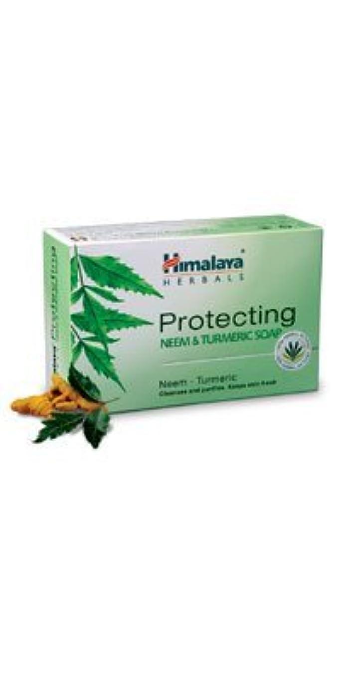 小売流道徳教育Himalaya Protecting Neem & Turmeric soap 225g