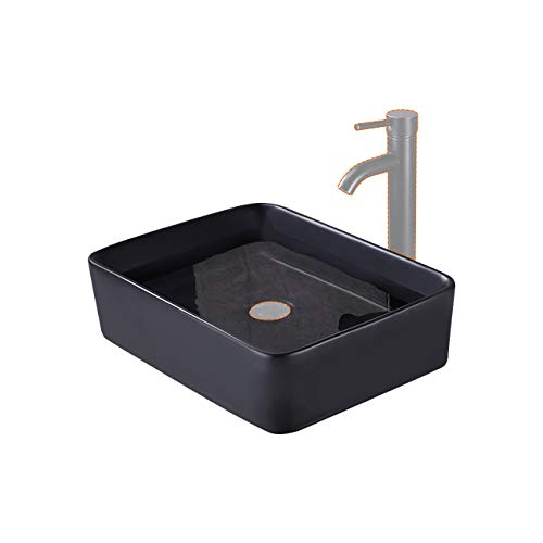 KES Bathroom 19' Rectangular Porcelain Vessel Sink Above...