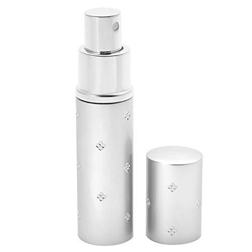 Botella de bomba vacía de 10 ml, botella de spray de perfume vacía resistente a la corrosión duradera, esencia de perfume de conveniencia para viajes en(Silver)